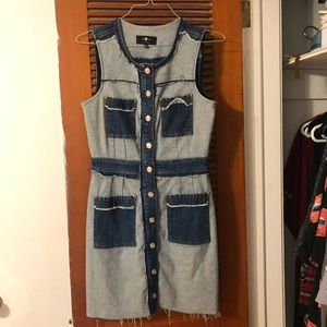 7 For All Mankind Dresses - 7 for all mankind patchwork denim dress